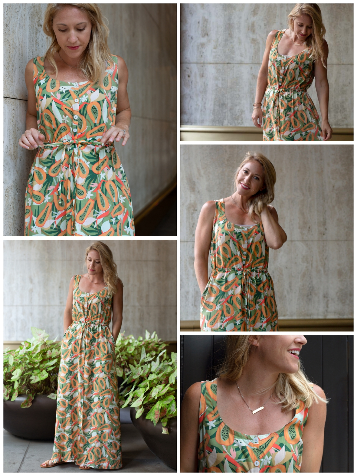 Baja Sur Rayon Southport Maxi Dress Fabric Dress Hey Miss Designs and Hawthorne Supply Co