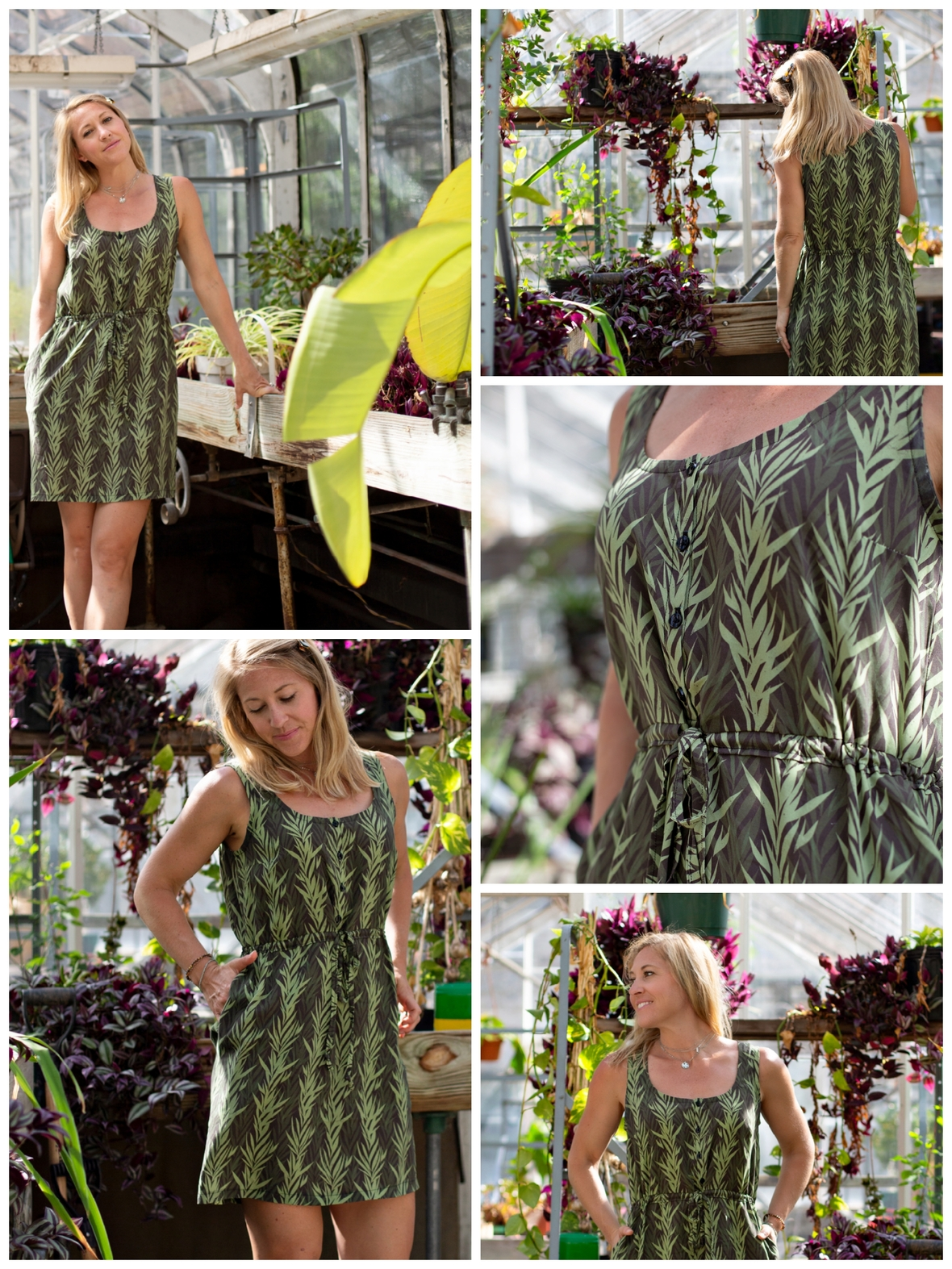 Baja Sur Fabric Hey Miss Designs and Hawthorne Supply Co Rayon Dress