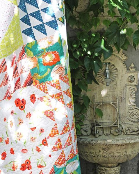 Bright Floralish Quilt Katarina R IG