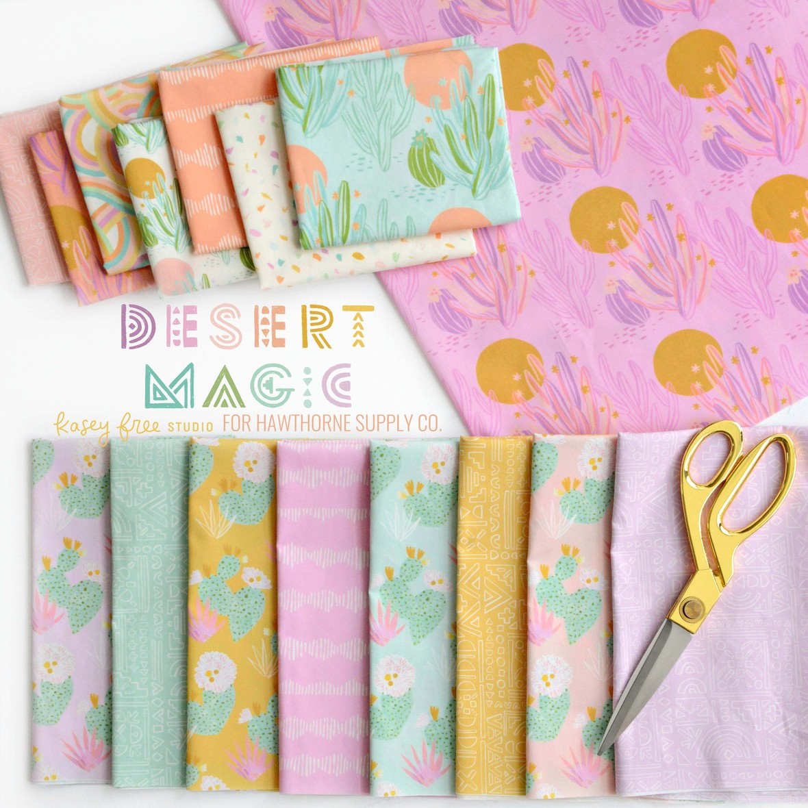 Desert Magic Fabric from Kasey Free Studio for Hawthorne Supply Co