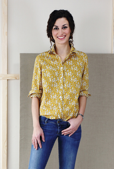 Classic Shirt Yellow- leisl and co pattern