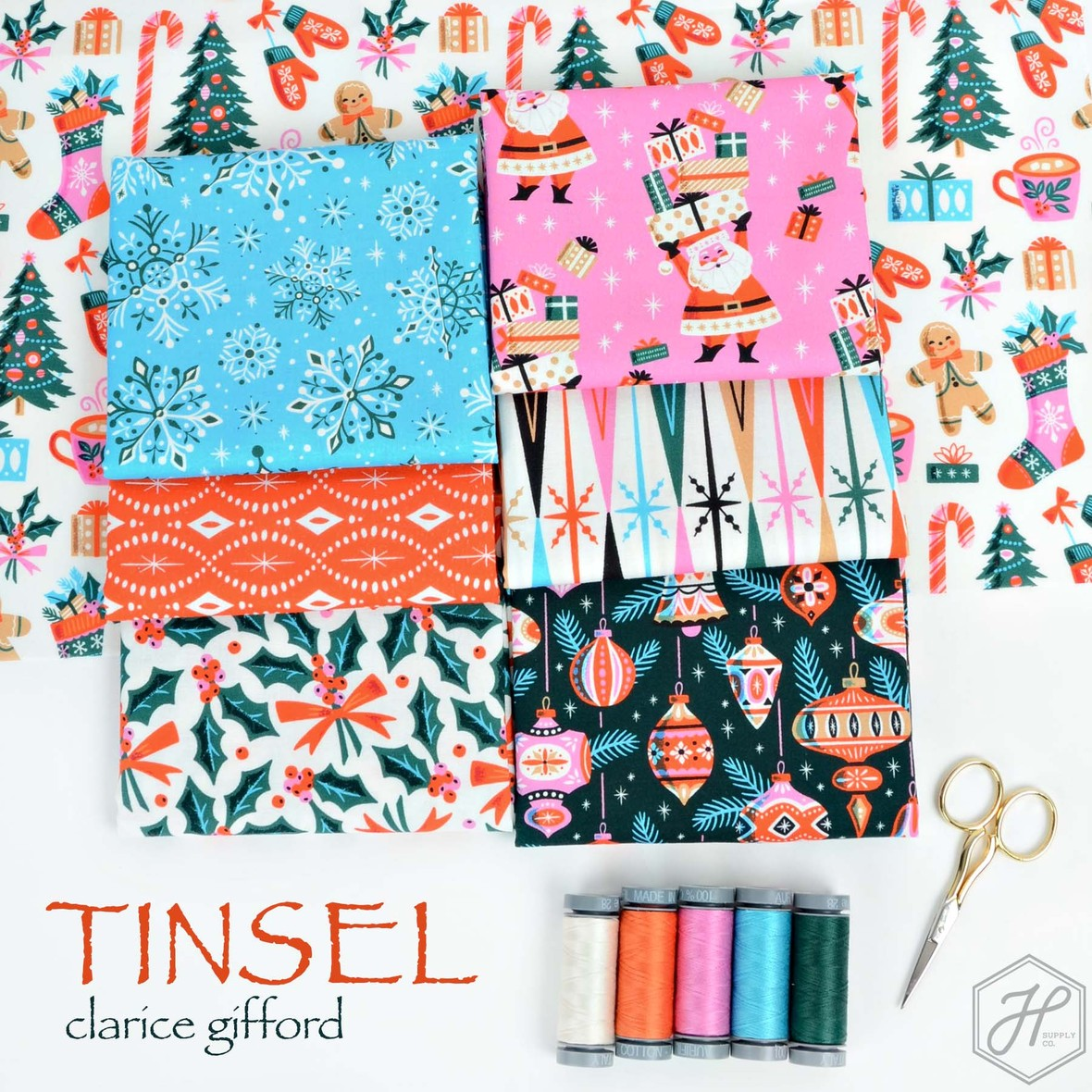 Tinsel Fabric Poster Clarice Gifford from Cloud 9 at Hawthorne Supply Co
