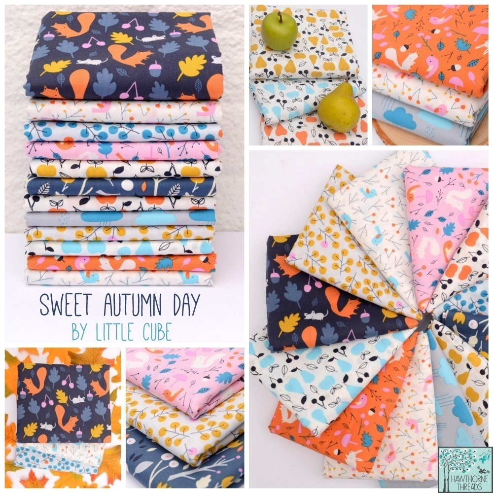 sweet autumn day fabric poster