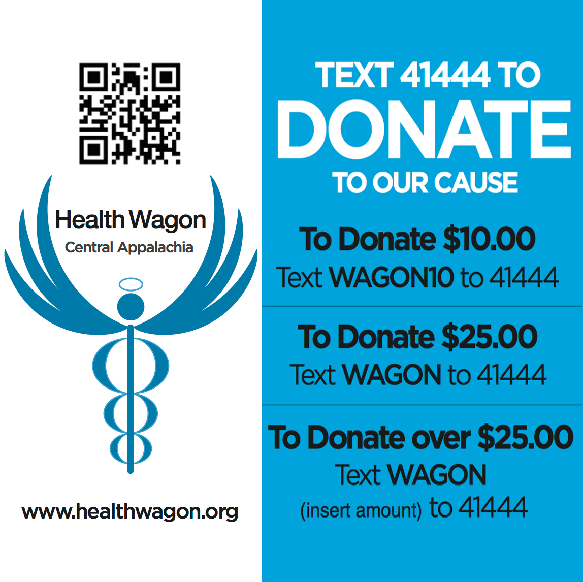 text to donate square