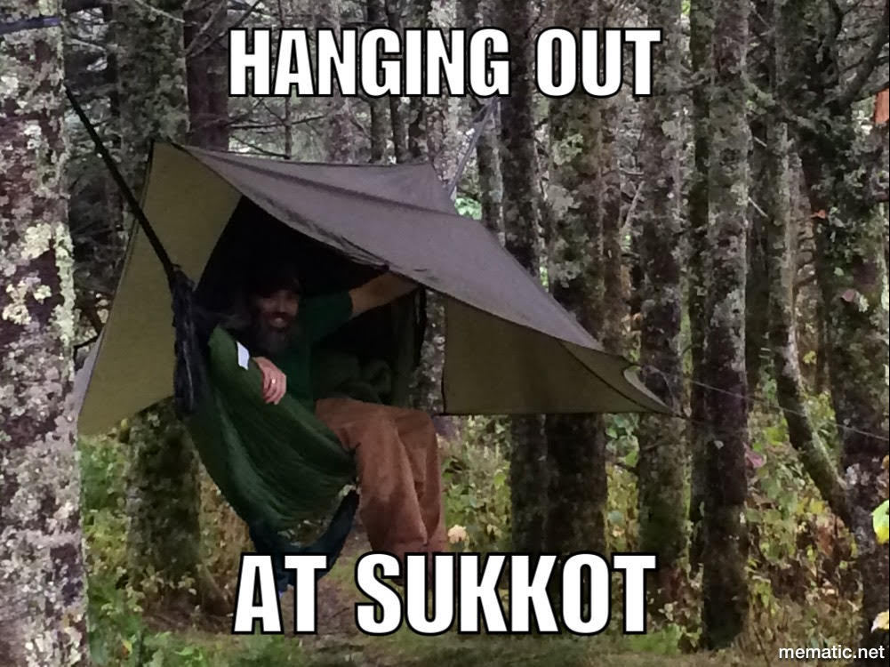 hanging out sukkot