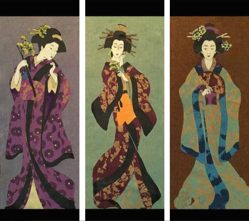 Geishas and Ginkos Quilts