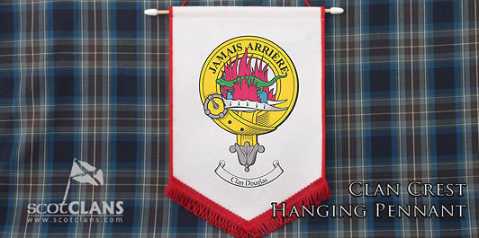 a6dfb77e5894e2 Coming back to ScotClans - our hand printed clan crest pennant available in  the full range of clans.