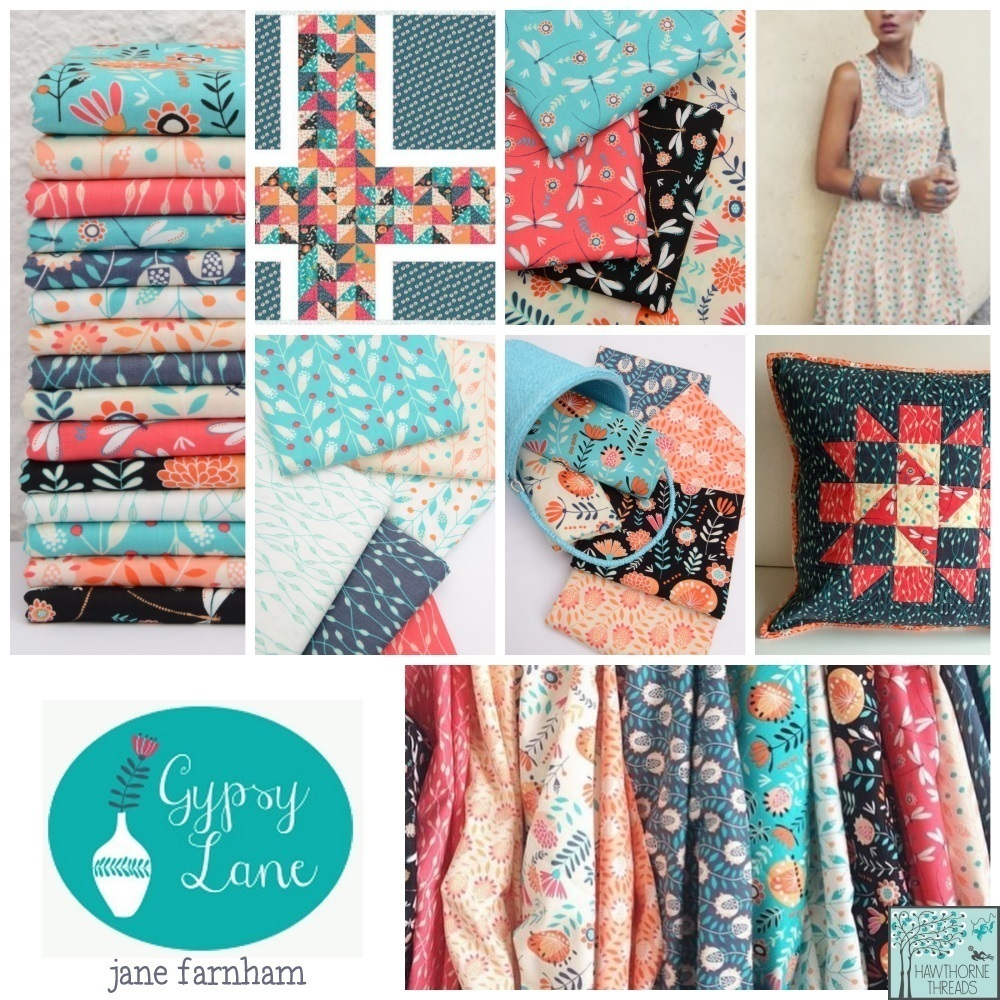 Gypsy Lane Fabric Poster