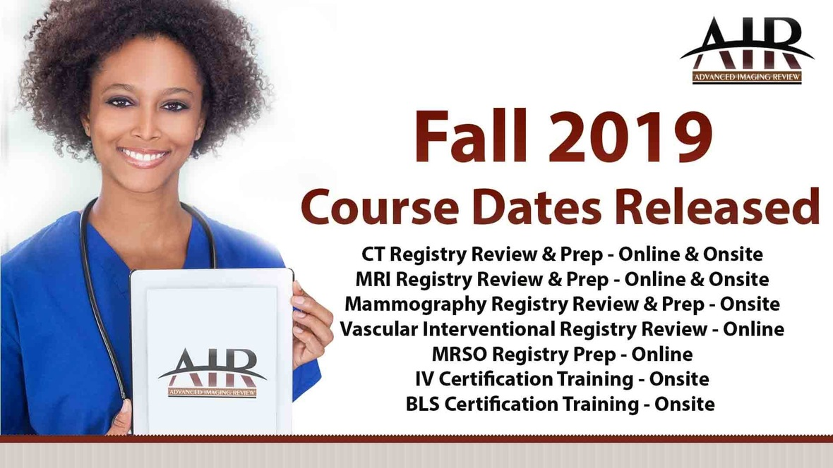 ☆ Fall 19' Registry Review Courses ☆
