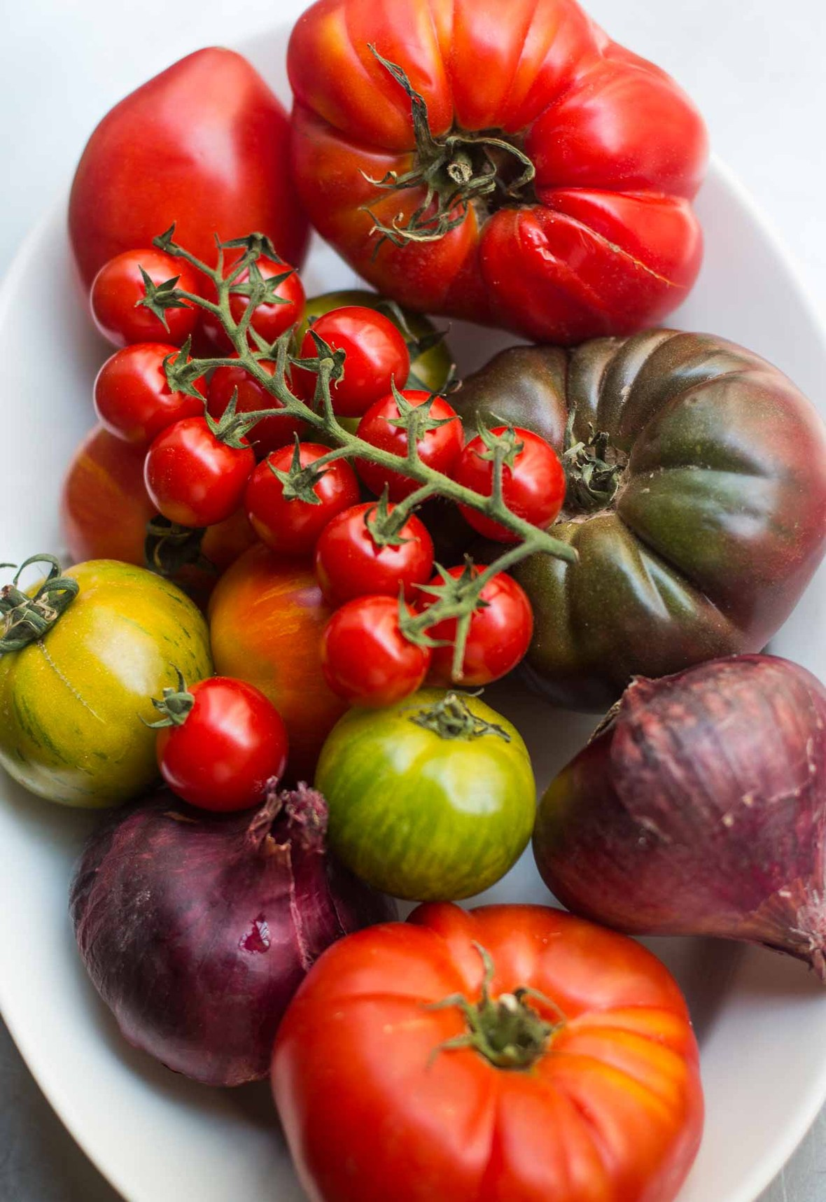 Panzanella Italian bread tomato salad recipe basil-2
