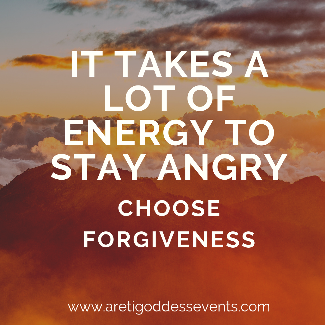 it takes a lot of energy to stay angry