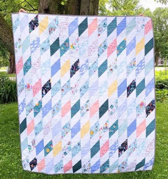 Diamond Block Quilt by Sarana Ave. on RB blog
