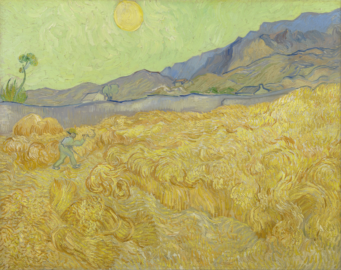 Vincent van Gogh - Wheatfield with a reaper - Google Art Project