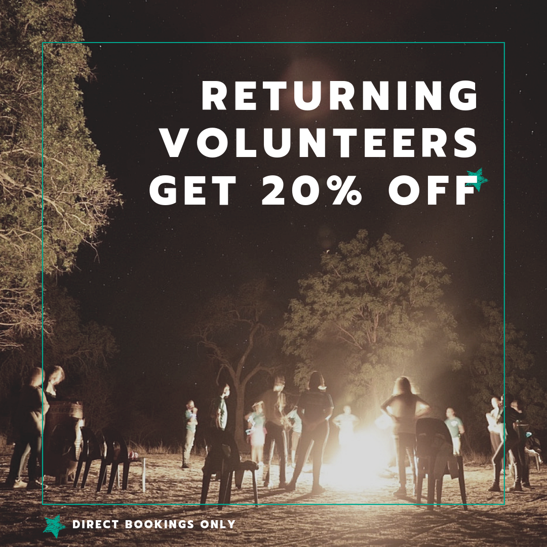 returning volunteers get 20 off