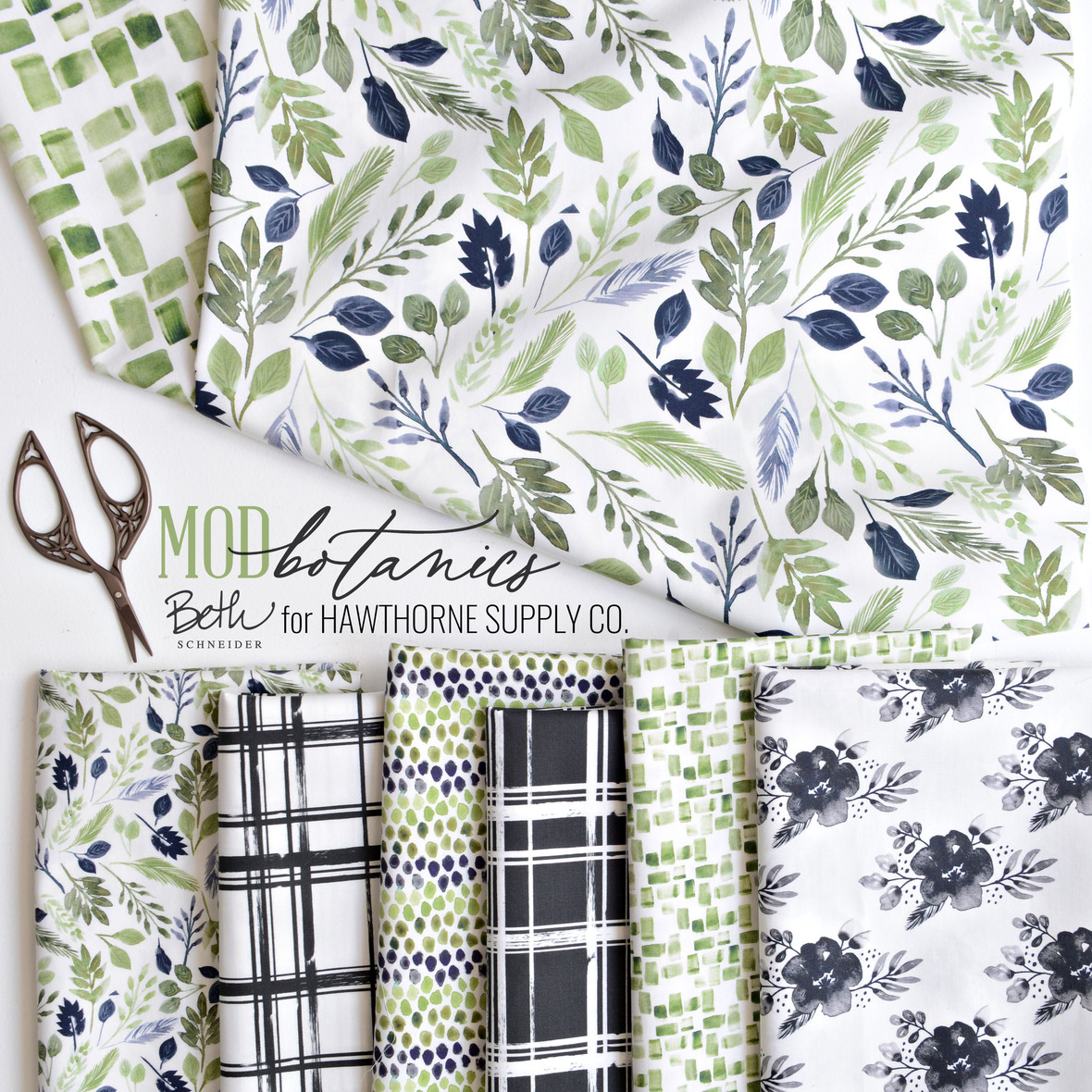 Mod Botanics Fabric Poster Beth Schneider Designs for Hawthorne Supply Co