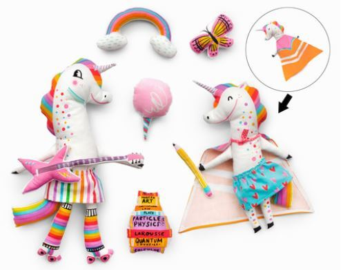 Magical Ranibow Unicorn Free Doll Pattern
