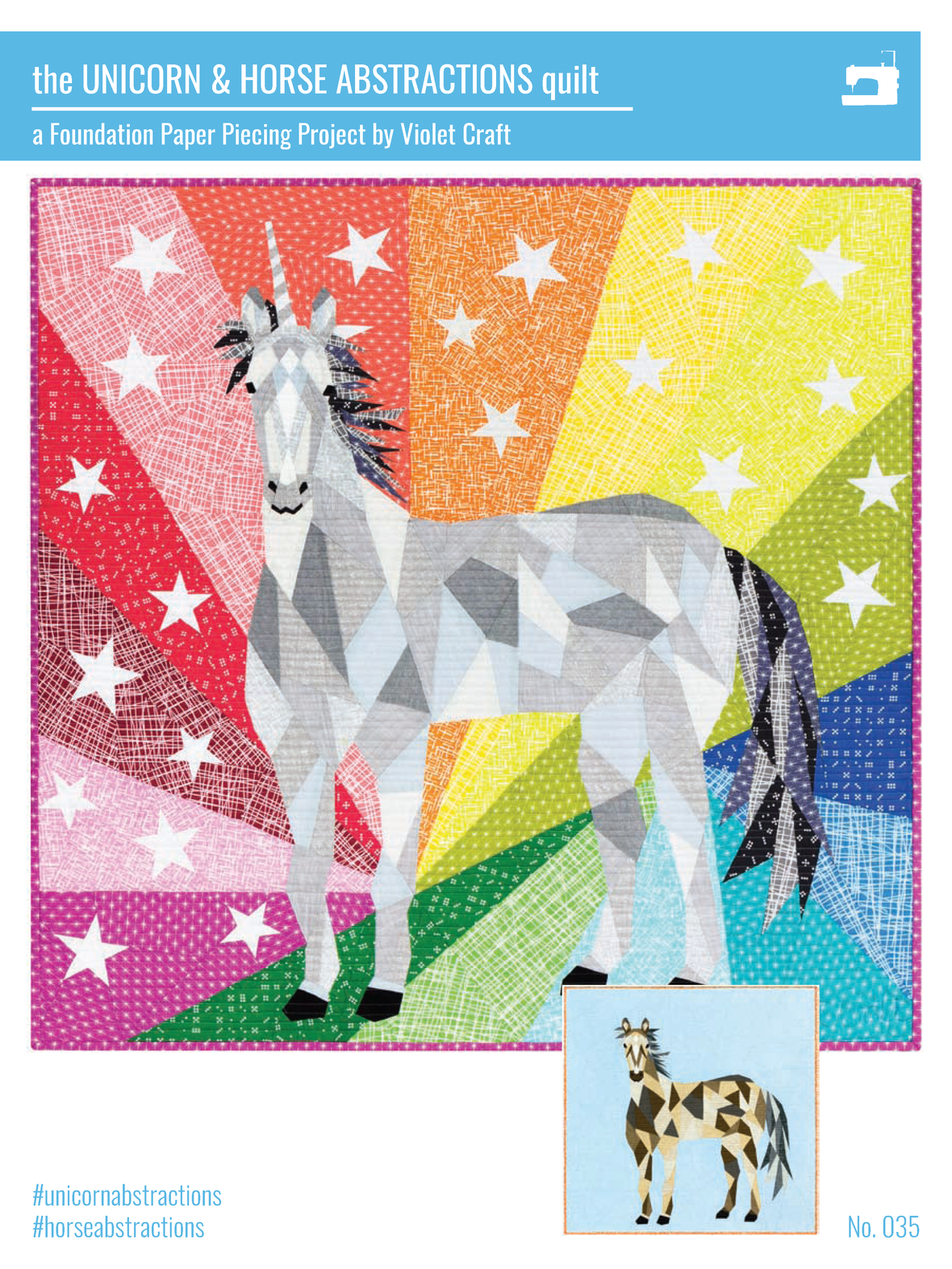 VC035 TheHorseAndUnicornAbstractionsQuilt cover 1