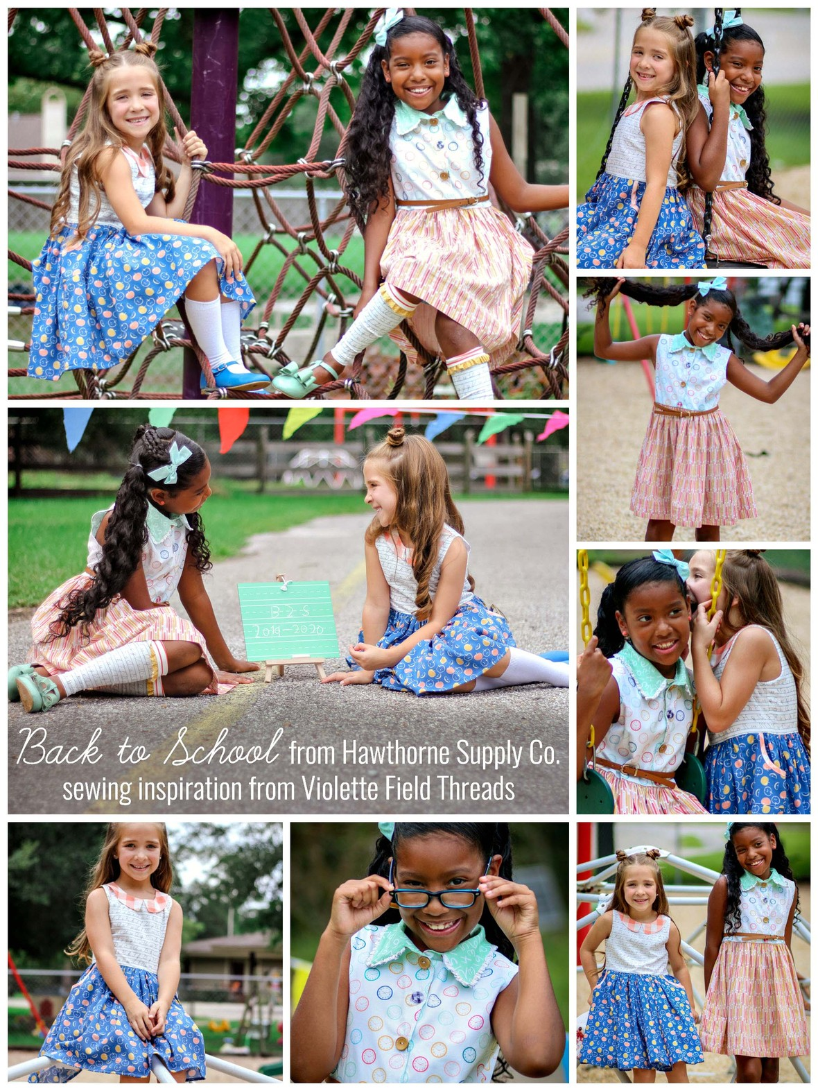 Meka Lew and Amber Guillot  Violette Field Threads Back to School Hawthorne Supply Co