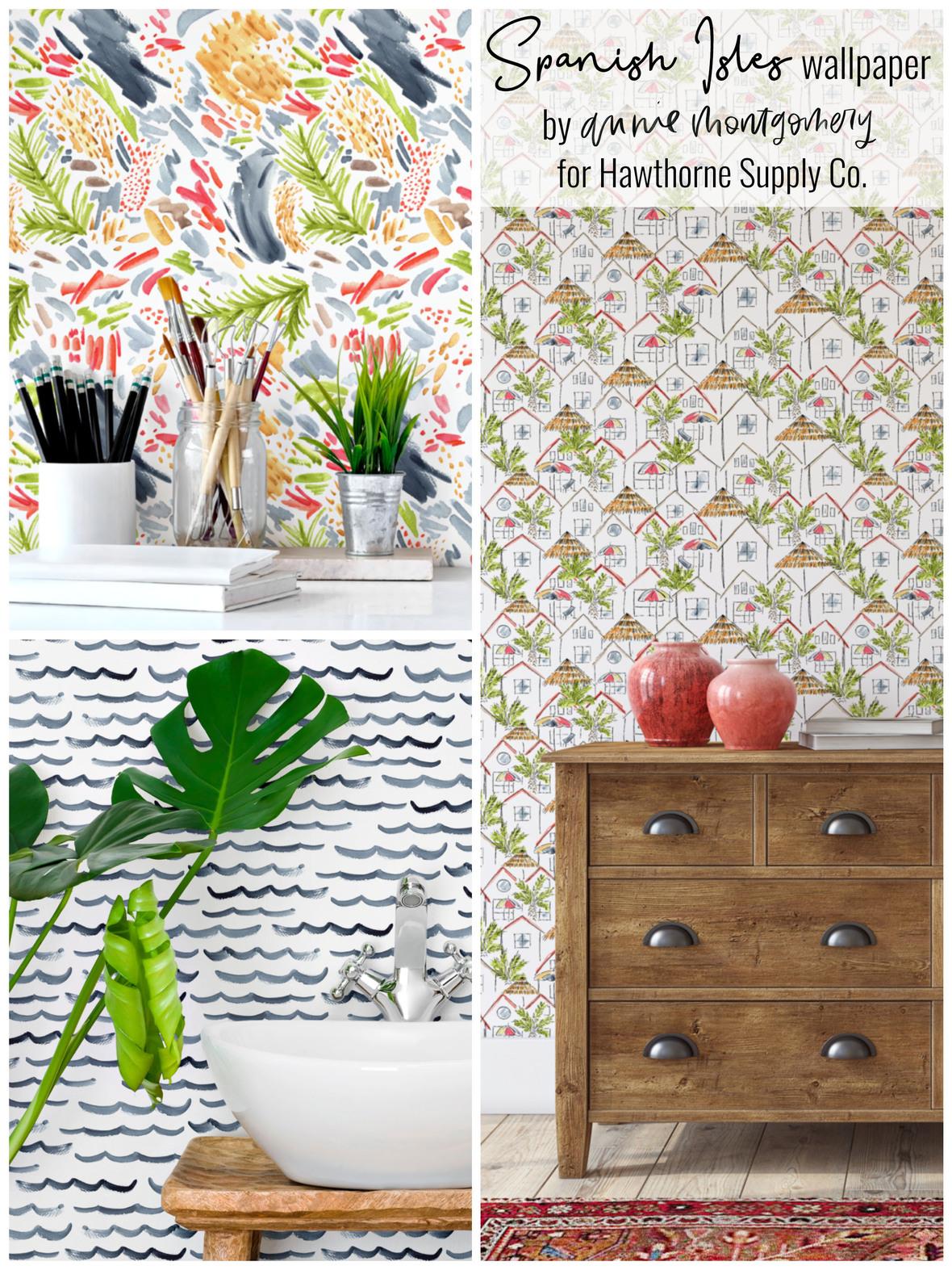Spanish Isles wallpaper Annie Montgomery Hawthorne Supply Co