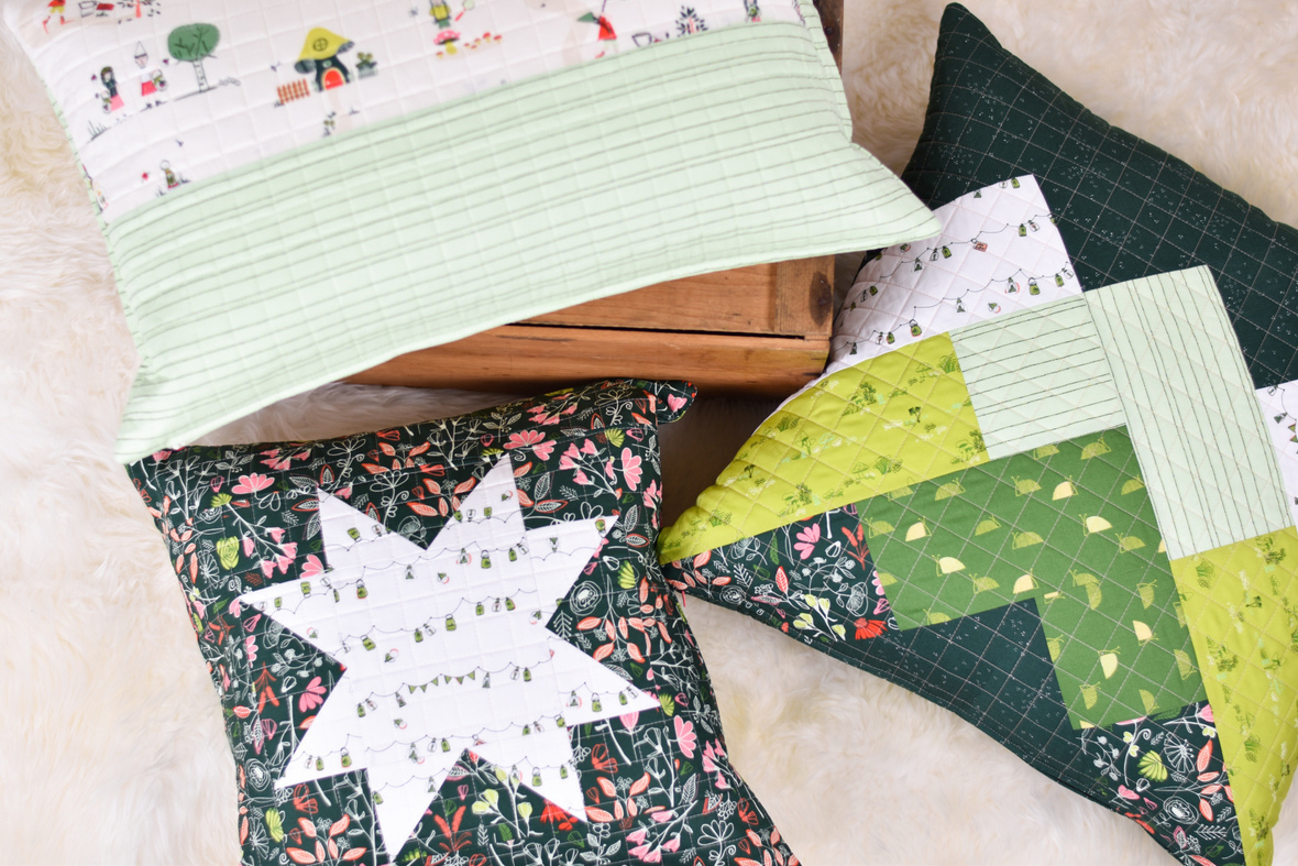 Dew and Moss Fabric Pillow Tutorial