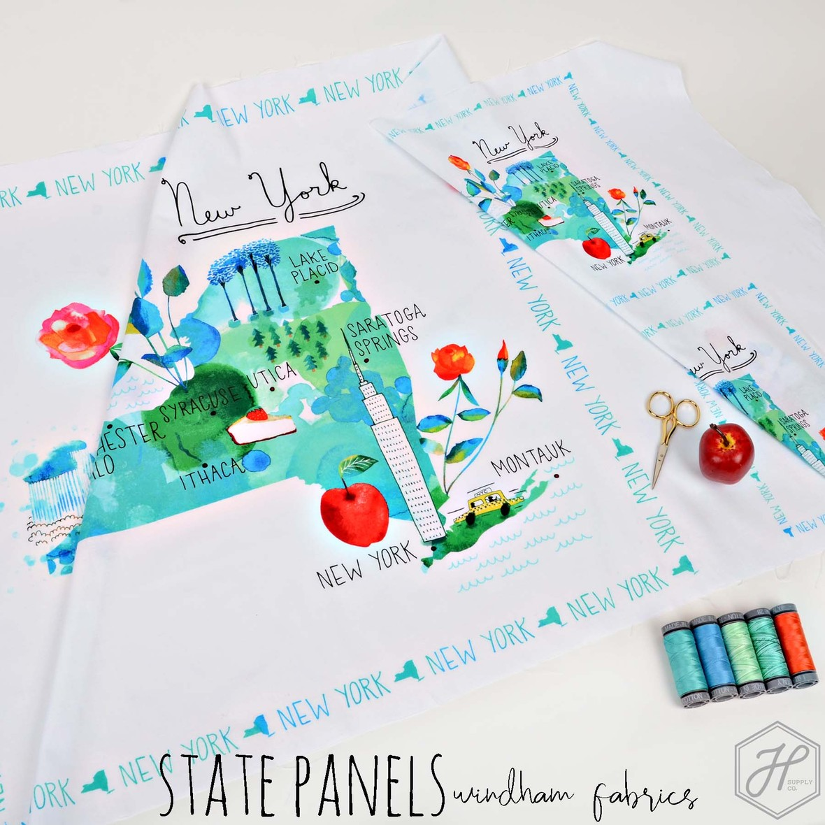 New State Panels Fabric Poster Windham at Hawthorne Supply Co