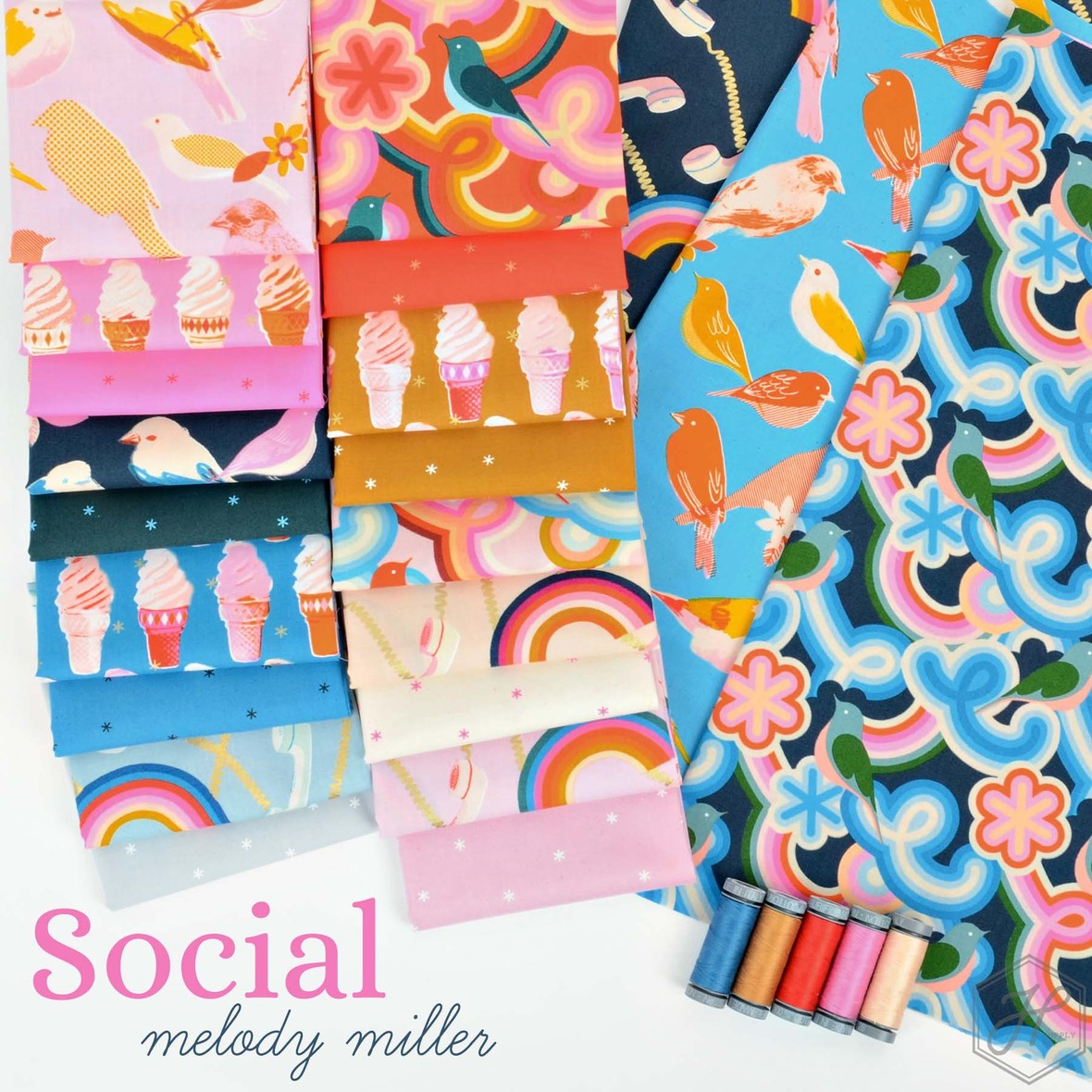 Social Fabric Melody Miller Fabric Poster at Hawthorne Supply Co
