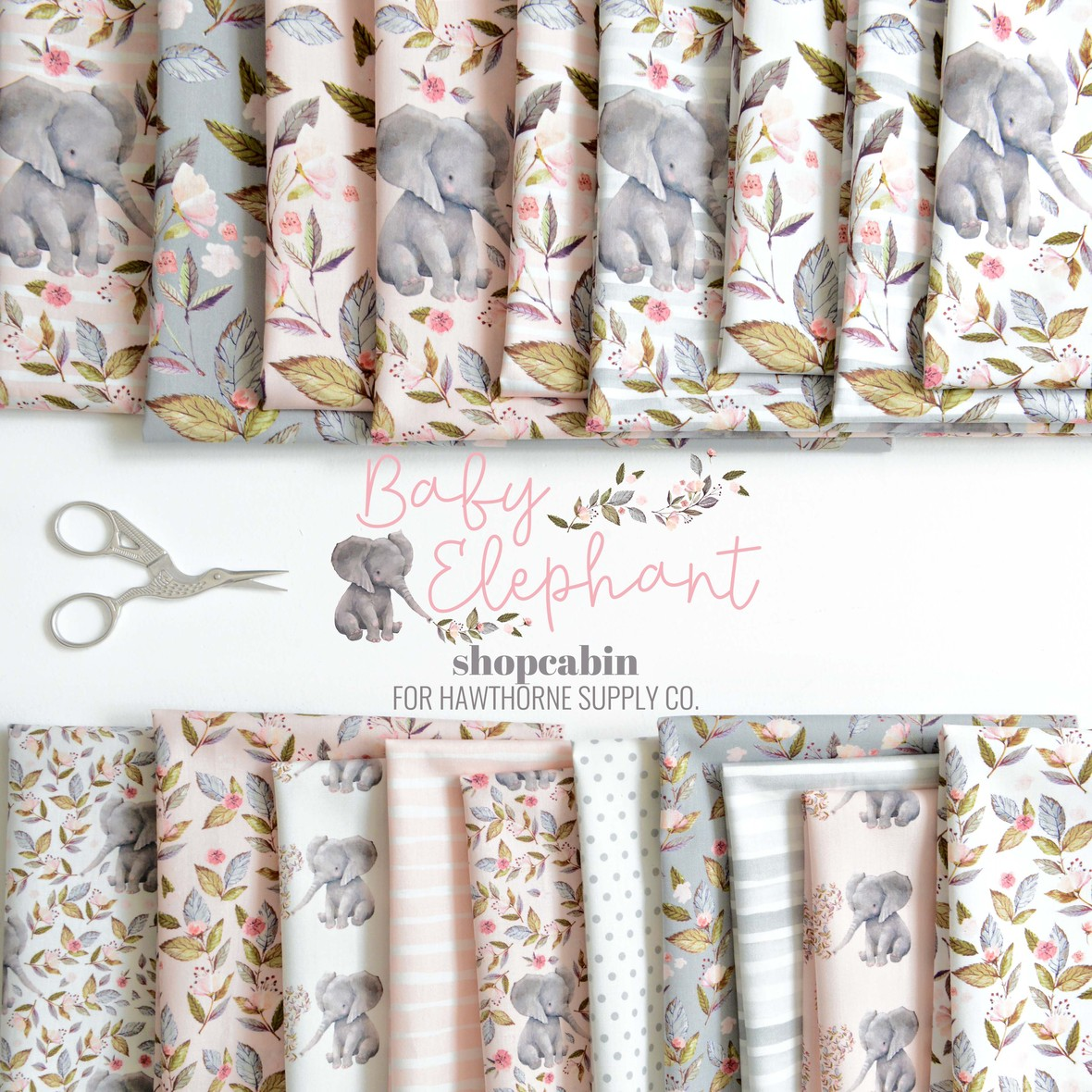 Baby Elephant Fabric Poster Shopcabin at Hawthorne Supply Co.