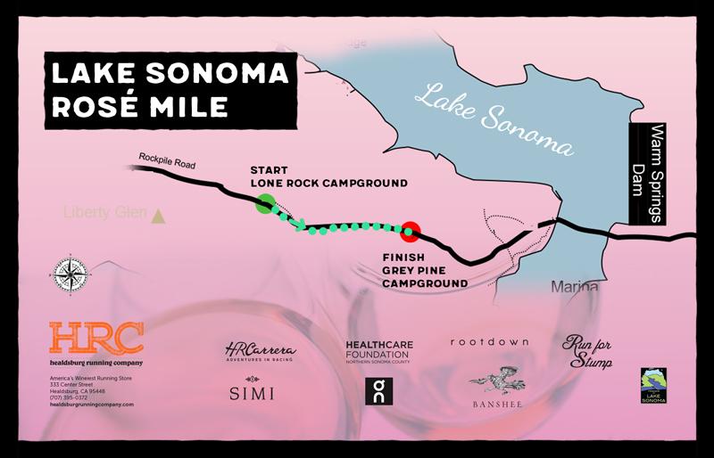 Lake sonoma rose map