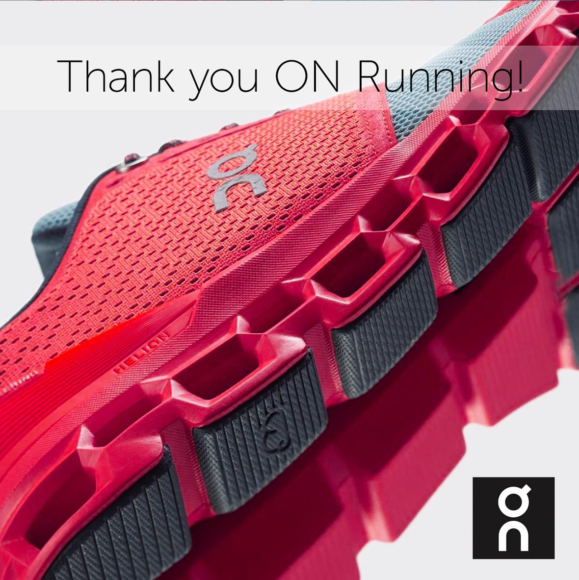 thanks ON running