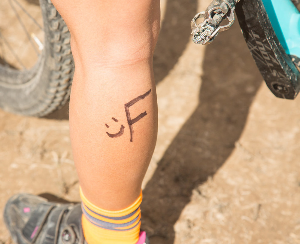 Freshman girl marked calf