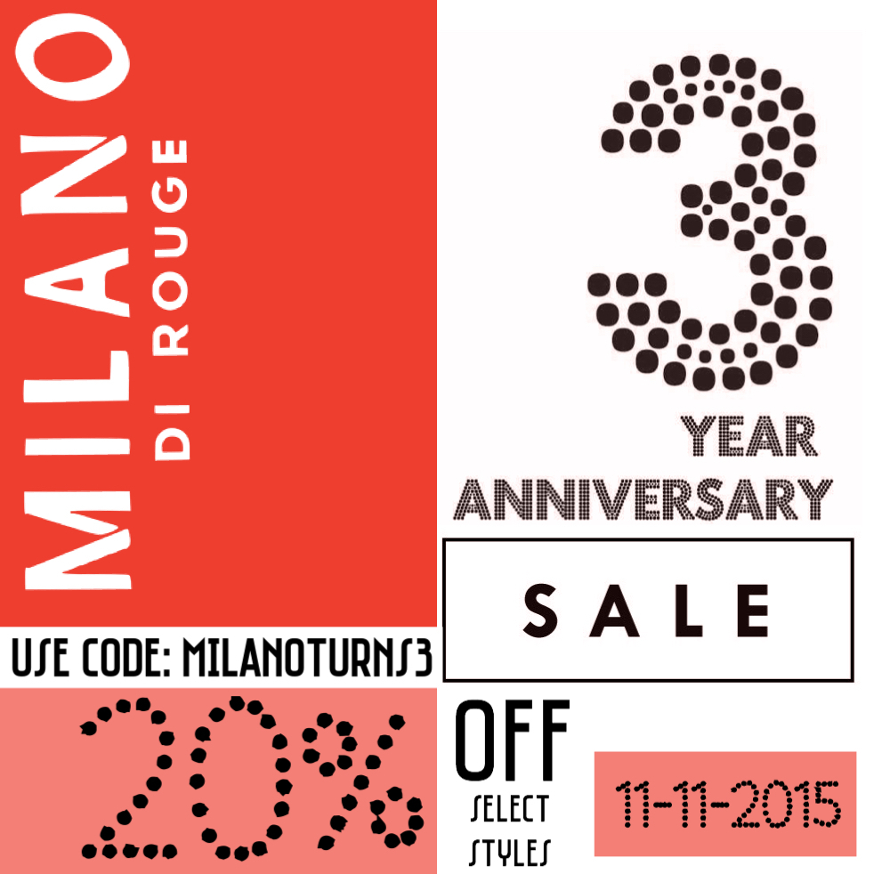 Milano 3yr sale