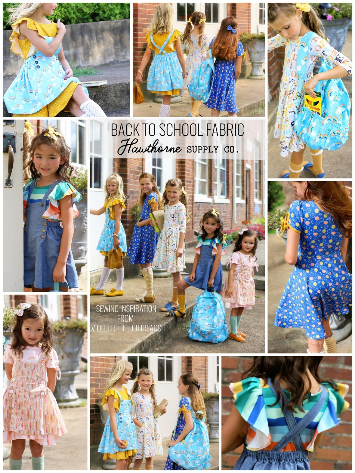 Back to School Sewing Inspiration from Violette Field Threads and Hawthorne Supply Co Fabric