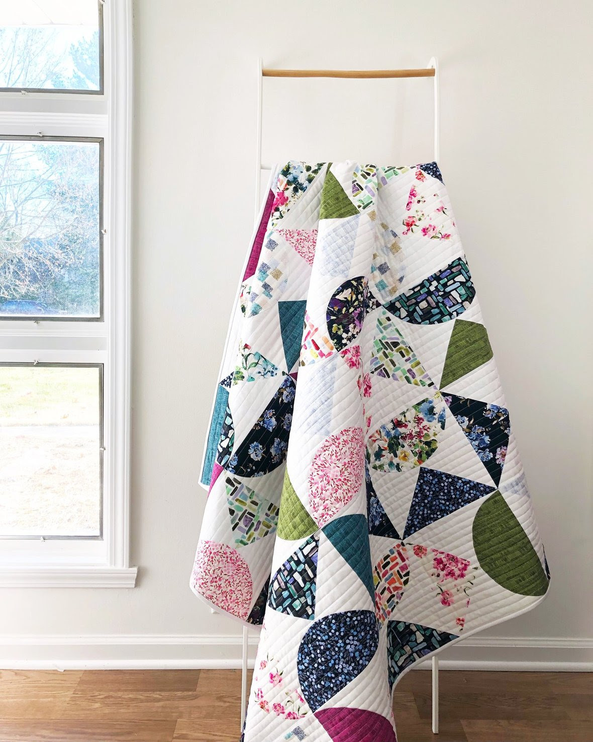 Pivot Quilt Pattern featuring Field Day