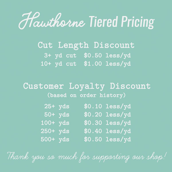Hawthorne Supply Co. Tiered Pricing