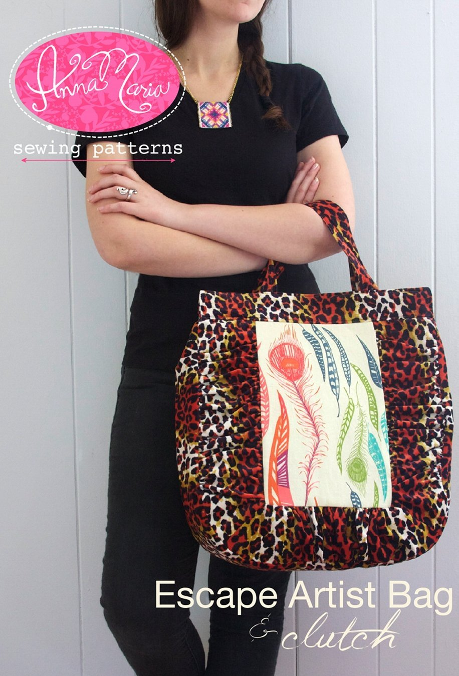 anna maria horner escape artist bag and clutch sewing pattern