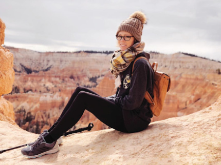 Lindsay at Bryce Canyon National Park