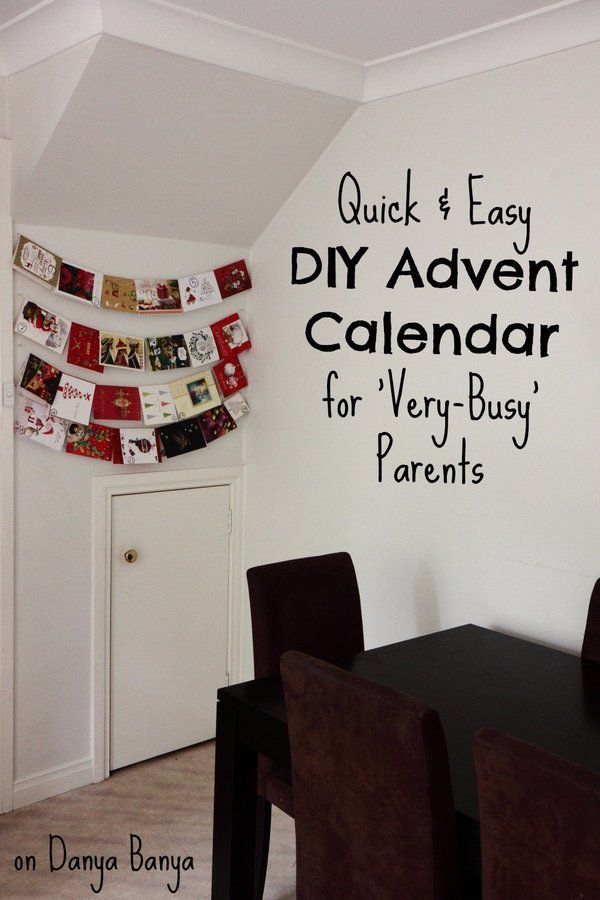Quick   Easy DIY Advent Calendar for Very Busy Parents p