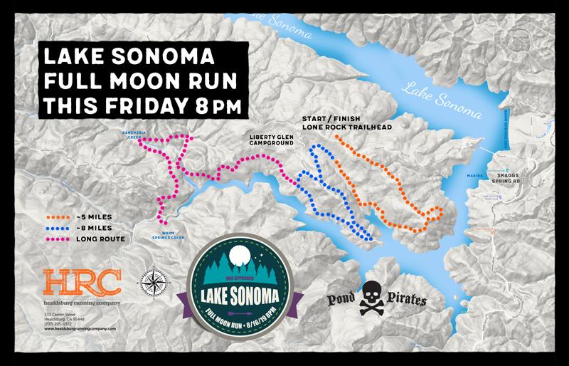 Lake sonoma full moon map