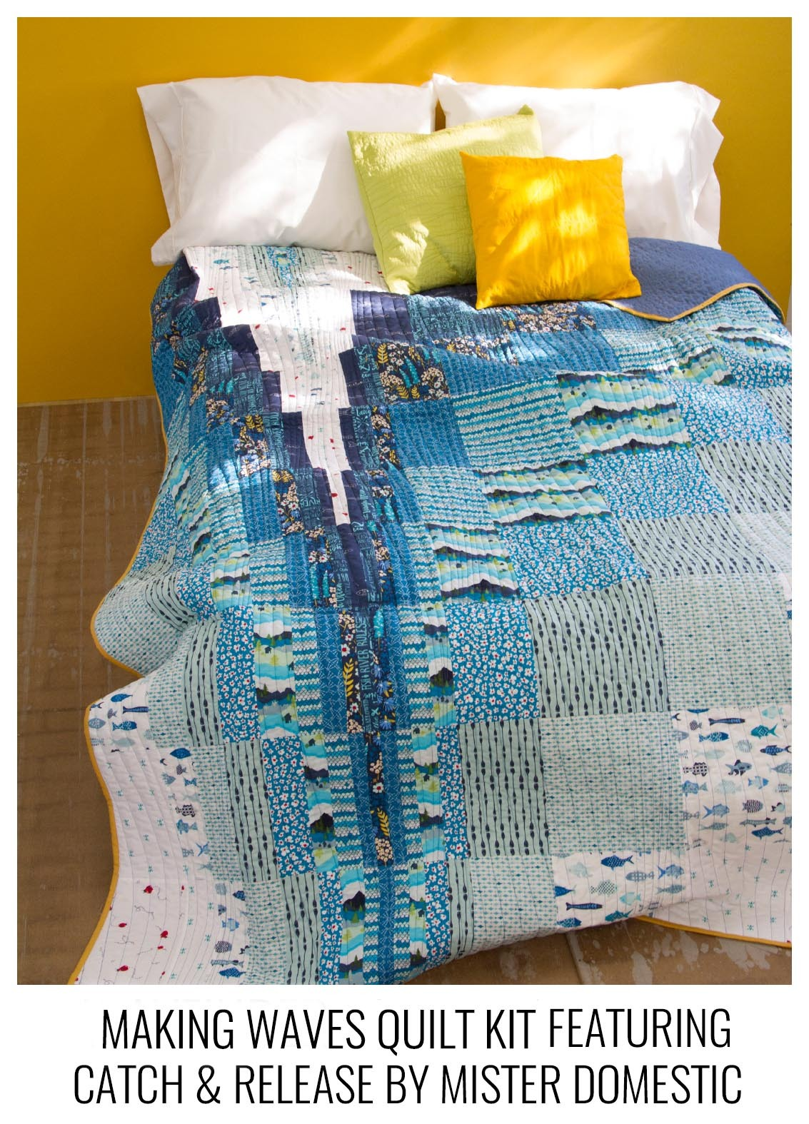 Catch and Release Making Waves Quilt Kit