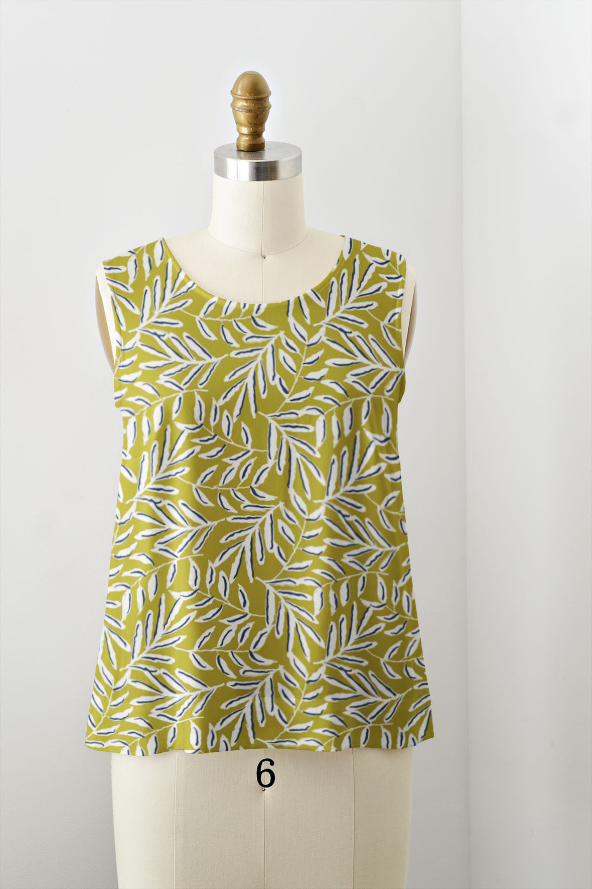 Large Thurloe Square in Citron Green