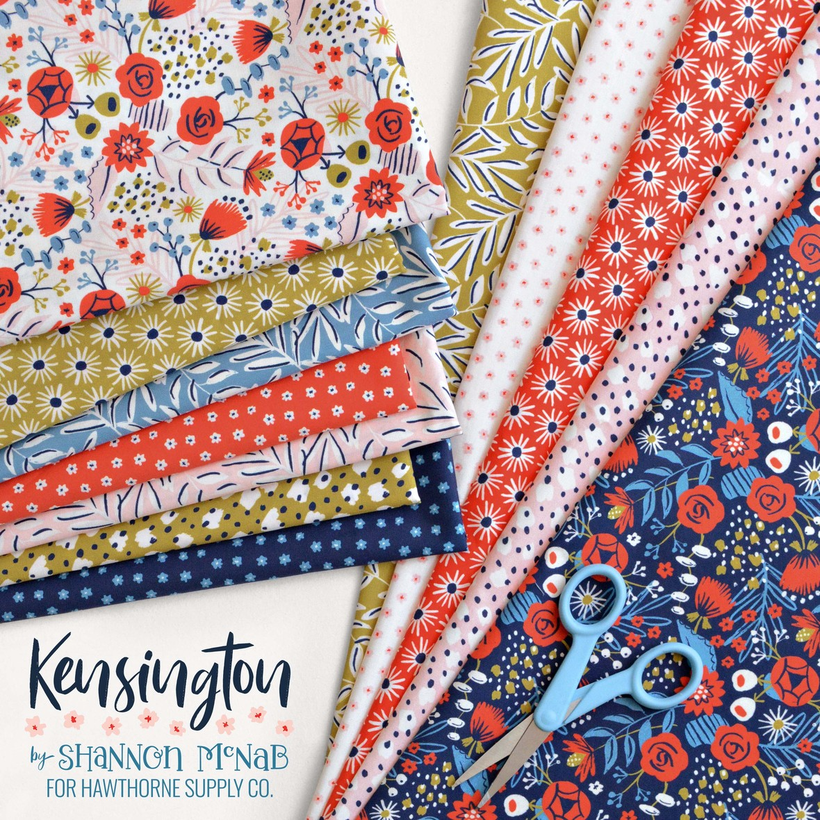 Kensington Fabric collection Shannon McNab Hawthorne Supply Co