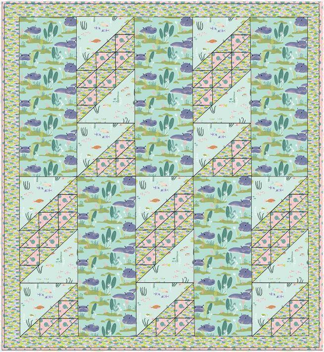 blend -free quilt pattern