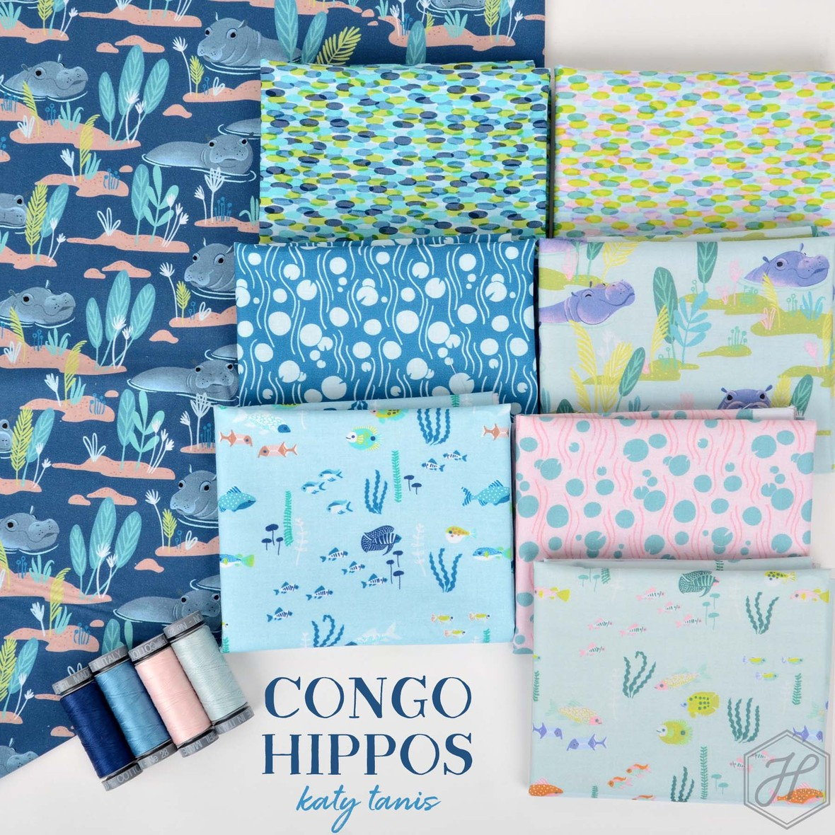 Congo Hippos Fabric Blend at Hawthorne Supply Co