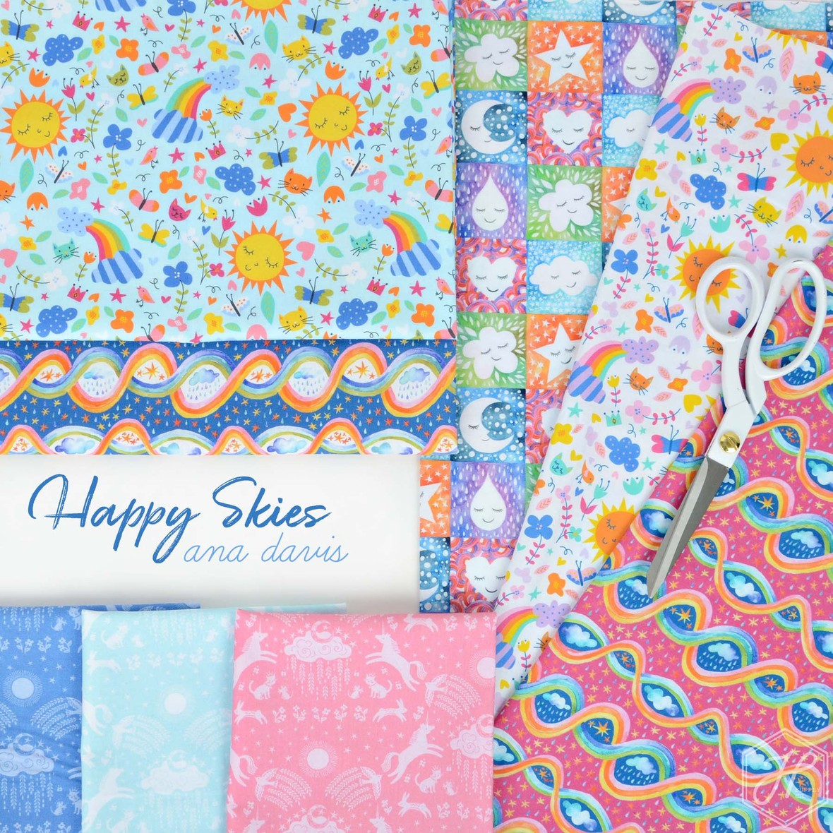 Happy Skies Fabric. Blend at Hawthorne Supply Co