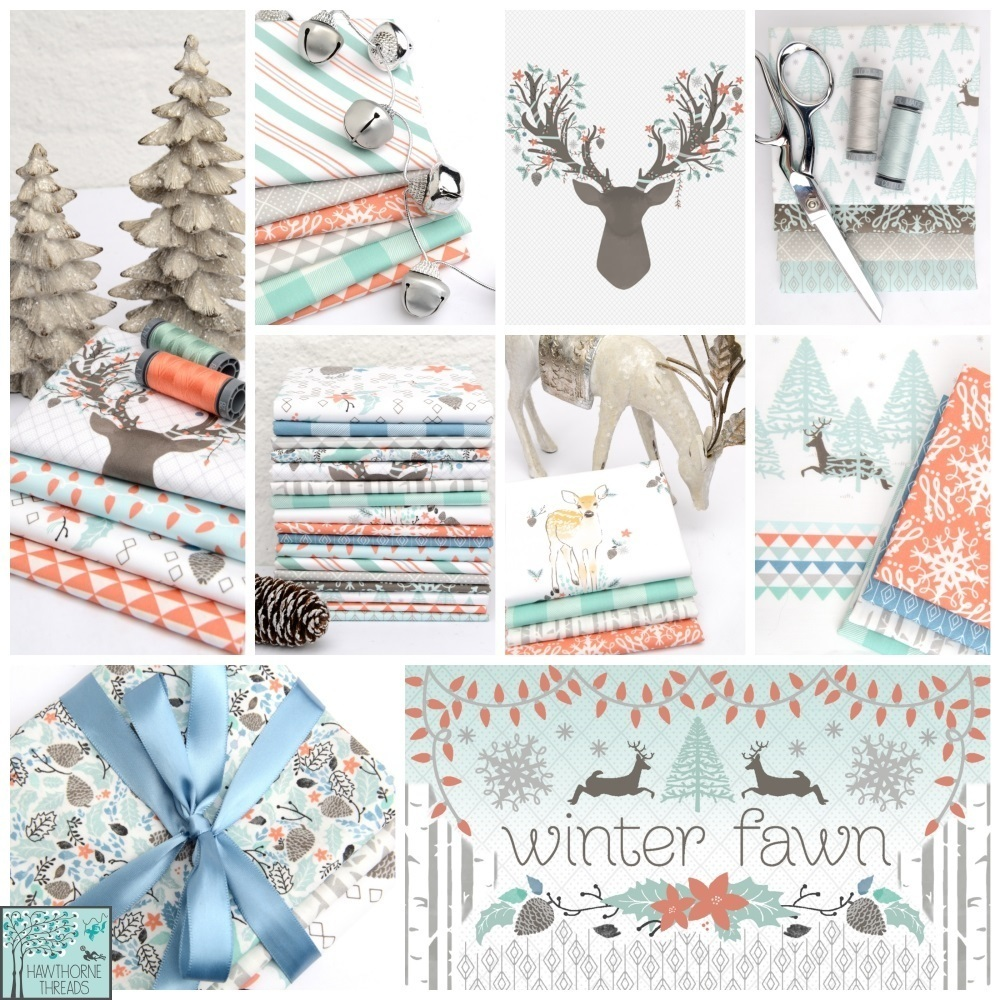 Winter Fawn Fabric Poster