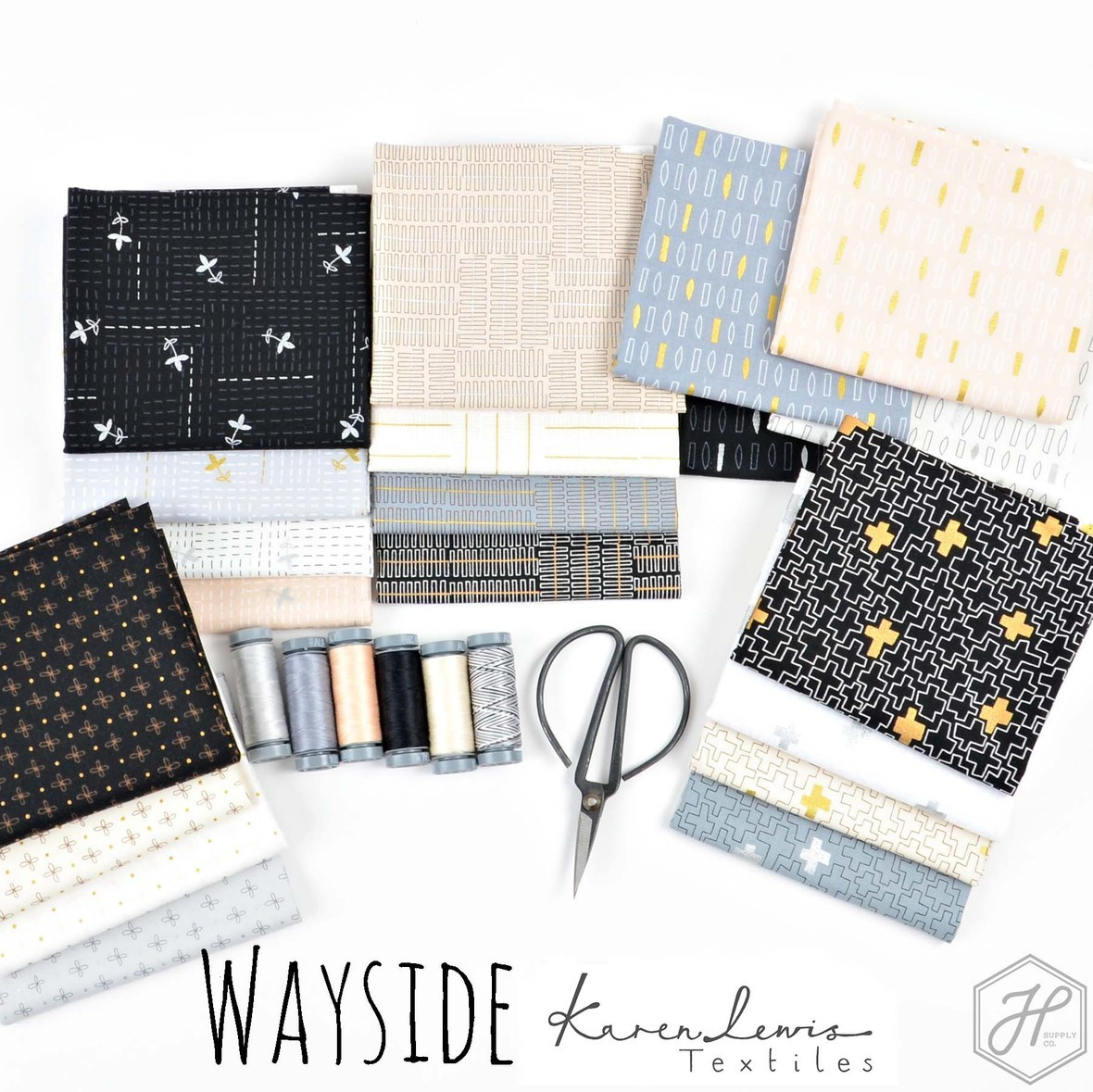 Wayside Fabric Poster Karen Lewis Textiles at Hawthorne Supply Co