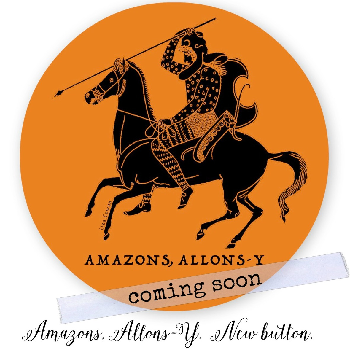 small equals  coming soon. Amazons allons y button