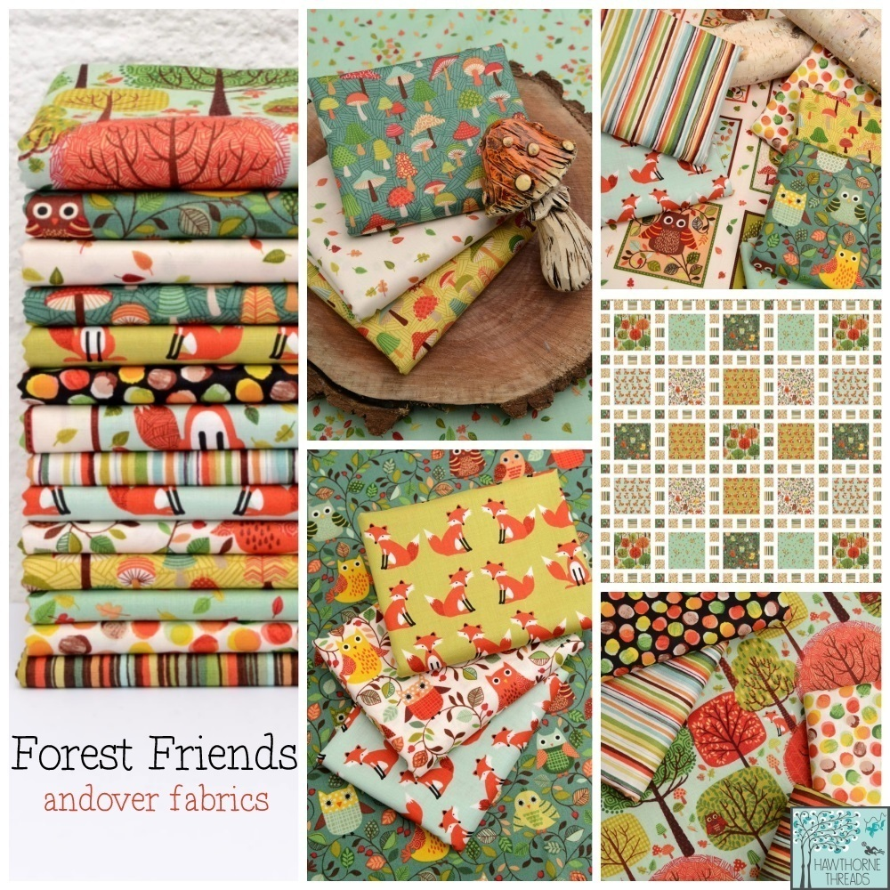Forest Friends Fabric Poster