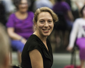 Erica Rose Jeffrey in class