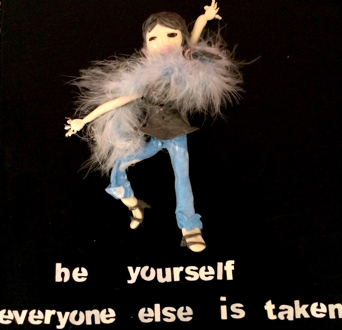 be yourself sculpture